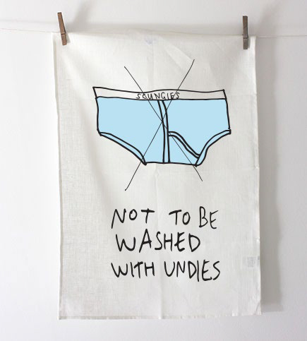 Carl Barron - Undies Teatowel