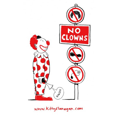 Kitty Flanagan - No Clowns Teatowel